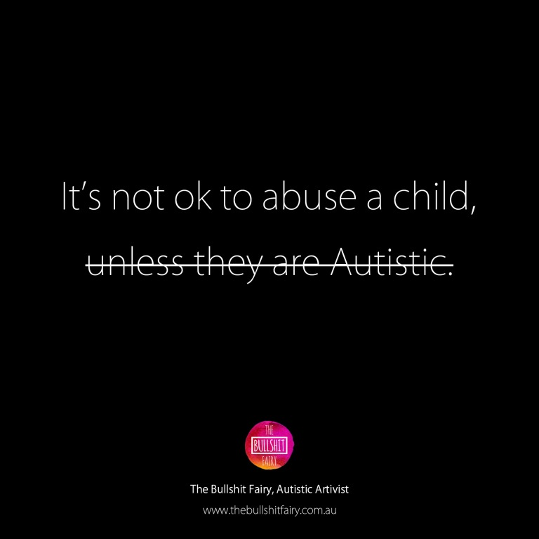 The Bullshit Fairy Quote - Child Abuse is not ok