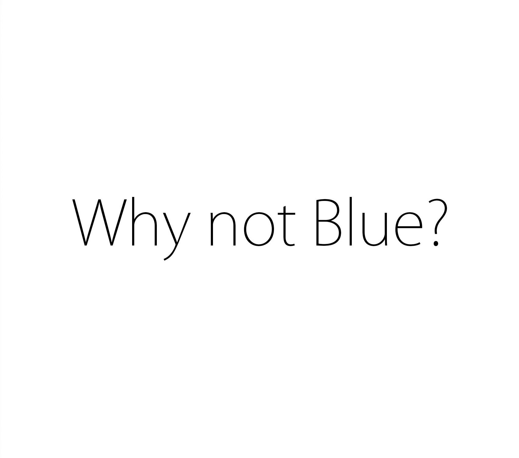 Why Not Blue? Boycott Autism Speaks