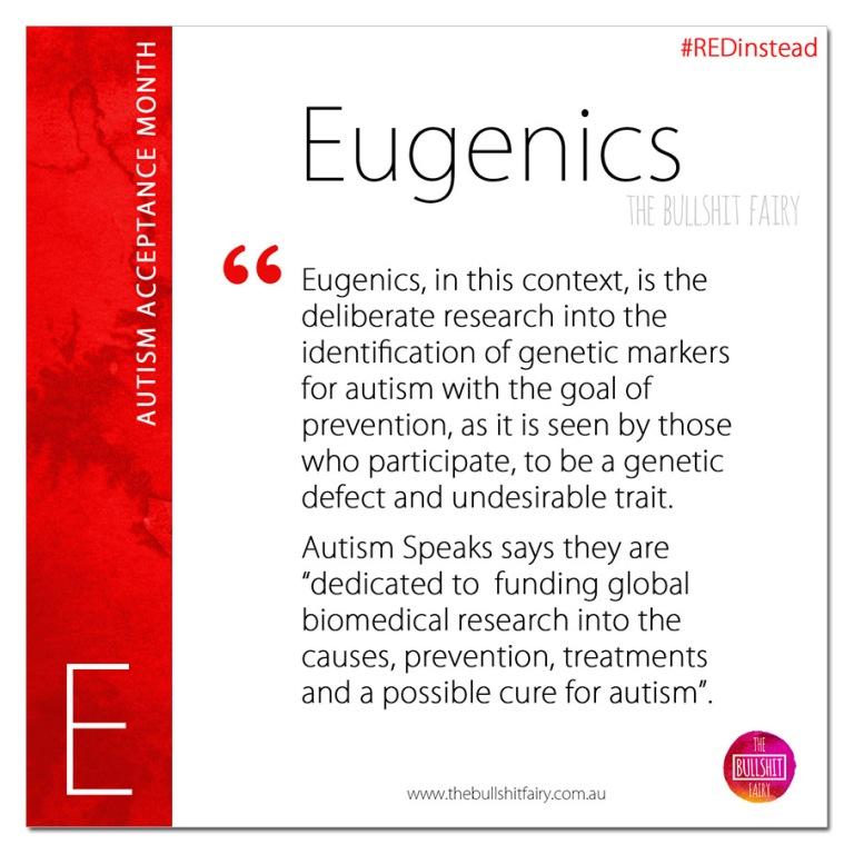 Eugenics - Boycott Autism Speaks - Autism Acceptance Month
