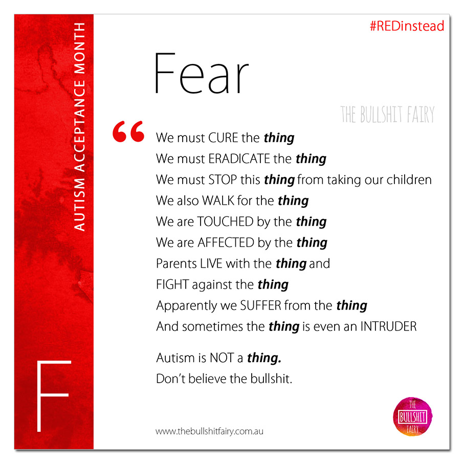 F is for Fear of Autism - Autism Acceptance Month